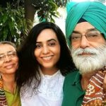 Gazal Dhaliwal with her parents