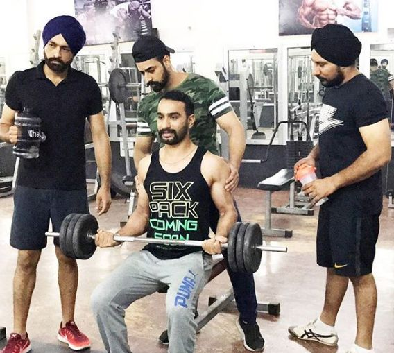 Hardeep Grewal during his workout