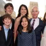 Jeff Bezos With His Wife And Children