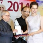 Kangana Ranaut receiving the National Award for the film Queen