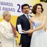 Kangana Ranaut receiving the National Award for the film Tanu Weds Manu Returns
