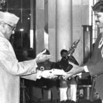 Kapil Dev Receiving The Arjuna Award By The Then President of India Sanjeeva Reddy