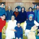 Manmohan Singh With His Family