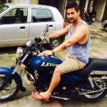 Paras Arora With His Bajaj Avenger