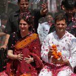 Priyanka Gandhi with Rahul Gandhi in Amethi, Uttar Pradesh