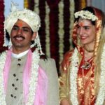 Priyanka Gandhi with her husband at the time of wedding