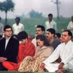 Priyanka Gandhi with her parents and brother