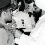 Rakesh Sharma Receving Ashok Chakra From The Then President of India Giani Zail Singh