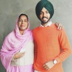 Satbir Aujla with his mother