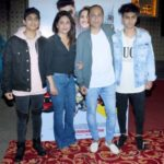 Shefali Shah with Vipul Amrutlal Shah and her sons
