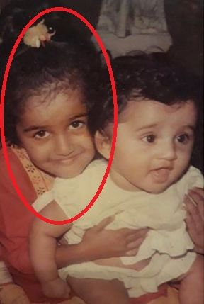 Shubra Aiyappa with her brother- Childhood Picture