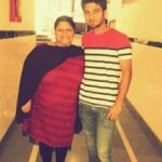 Ankush Bains with his mother