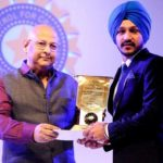 Anmolpreet Singh received M.A. Chidambaram Trophy for the best Under-19 cricketer 2014-15