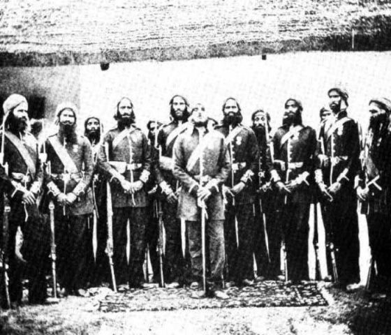Havildar Ishar Singh With His Troops