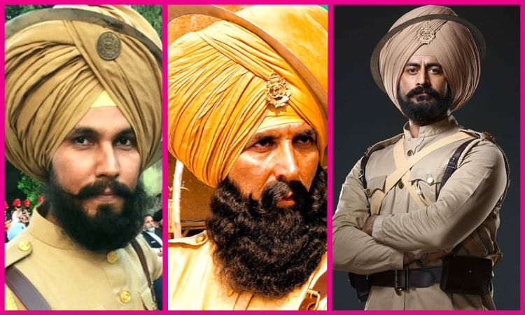 Havildar Ishar Singh's Role Portrayed By Randeep Hooda (left), Akshay Kumar (centre), and Mohit Raina (right)