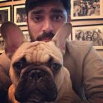 Karan Boolani with his pet Dog