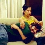 Kartik Aaryan With His Mother