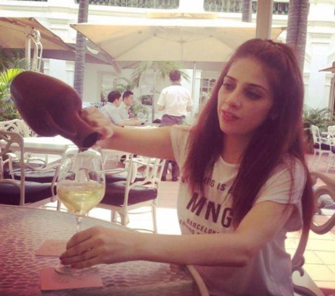 Maha Ali Kazmi With A Glass Of Wine