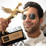 Rajkummar Rao With His IMW Digital Award - Best Actor in a Web Series