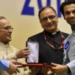 Rajkummar Rao With His National Film Award - Best Actor