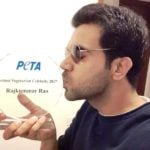 Rajkummar Rao With His PETA Hottest Vegetarian Celebrity - Hottest Vegetarian