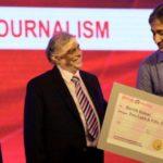 Ravish Kumar With Ramnath Goenka Excellence in Journalism Award