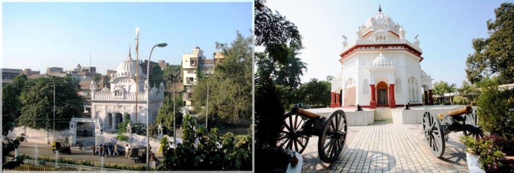 Saragarhi Memorial Gurudwara, Amritsar (left) and Saragarhi Memorial Gurudwara, Ferozepur(right)