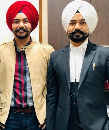 Supneet Singh with his brother (lawyer)