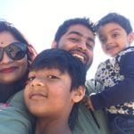 Arijit Singh With His Wife And Sons