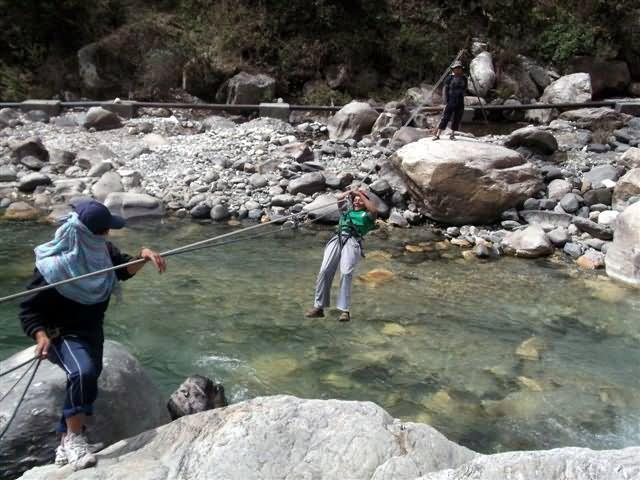 Arunima Sinha Getting Trained In Uttarkashi