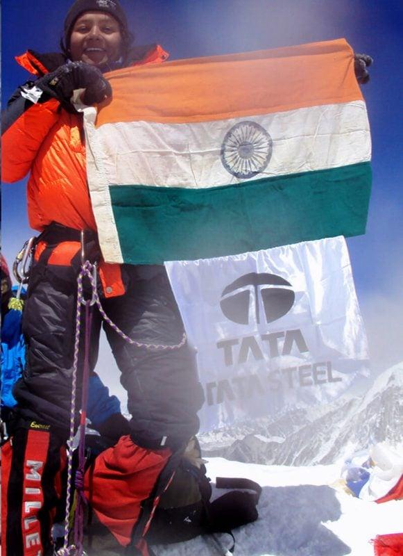 Arunima Sinha On The Summit Of Island Peak