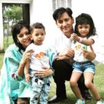 Deepak Rawat With His Wife Vijeta and Children