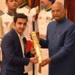 Gautam Gambhir Receiving Padma Shri