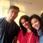 Mansi Sharma With Her Brother And Elder Sister