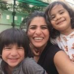 Rubika Liyaquat With Her Son And Daughter
