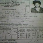 Shah Rukh Khan Admission Form of Hans Raj College