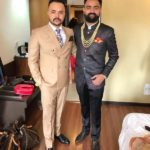 Amrit Maan with his brother