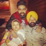 Amrit Maan with his parents