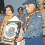 Aparajita Sarangi receiving Shakti Samman