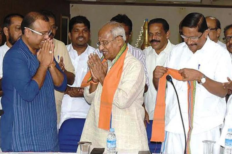 Thushar Vellappally With Leaders Of Other Hindu Based Outfits