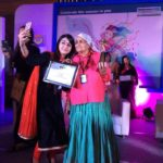 Chandro Tomar receiving HT Woman Award