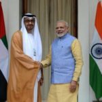 Crown Prince of Abu Dhabi General Sheikh Mohammed Bin Zayed Al Nahyan with Prime Minister Narendra Modi