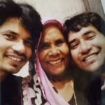 Dinesh Lal Yadav With His Mother and Brother Parvesh Lal Yadav