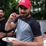 Harbhajan Singh Eating Chicken