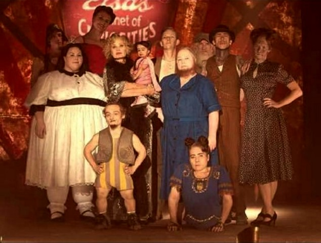Jyoti Amge With American Horror Story Co-Stars