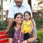 Jyoti Amge With Her Father Kishanji Amge