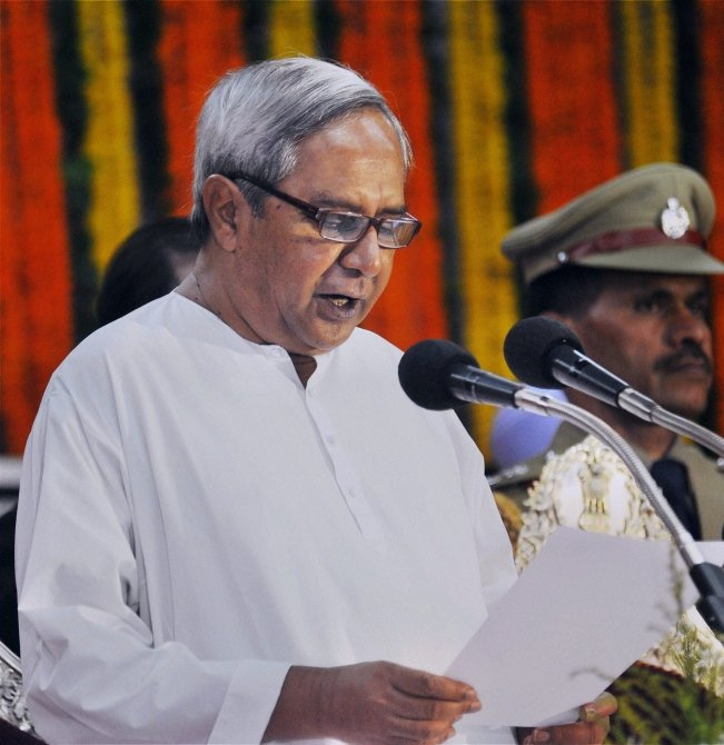 Naveen Patnaik Taking Oath As the CM In 2014
