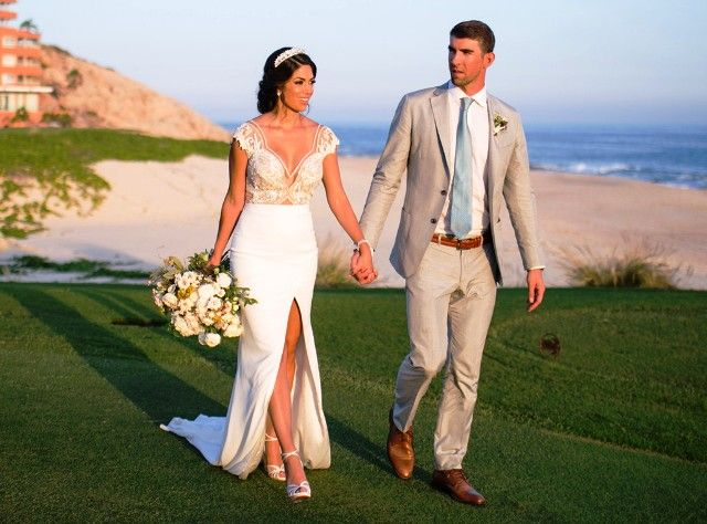 Nicole Johnson and Michael Phelps during their marriage