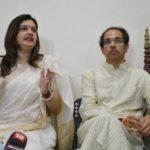 Priyanka Chaturvedi Addressing A Press Conference In Presence of Shiv Sena Chief Uddhav Thackeray