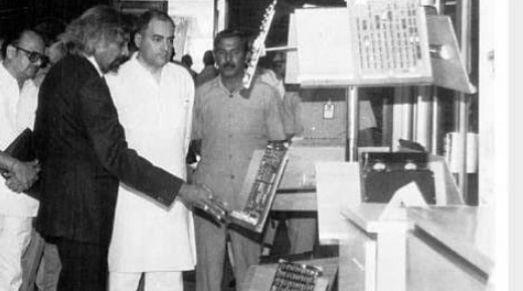 Sam Pitroda with Rajiv Gandhi